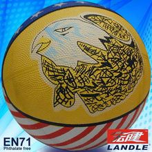 official size new style rubber made kids mini basketball