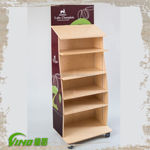 New Style MDF Supermarket Display Rack , Retail Floor Display Stand , pop Floor Display