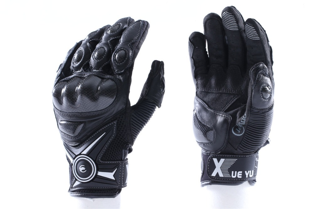 New Motorcycle Street Gloves Leather Motorbike Gloves Racing Moto Full Finger Motorcycle Gloves