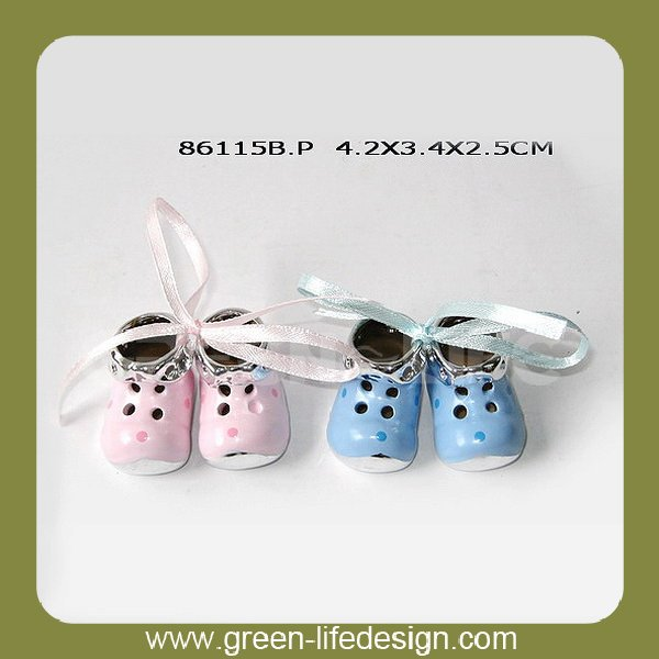 Elegant cute ceramic shoe baby shower gifts india