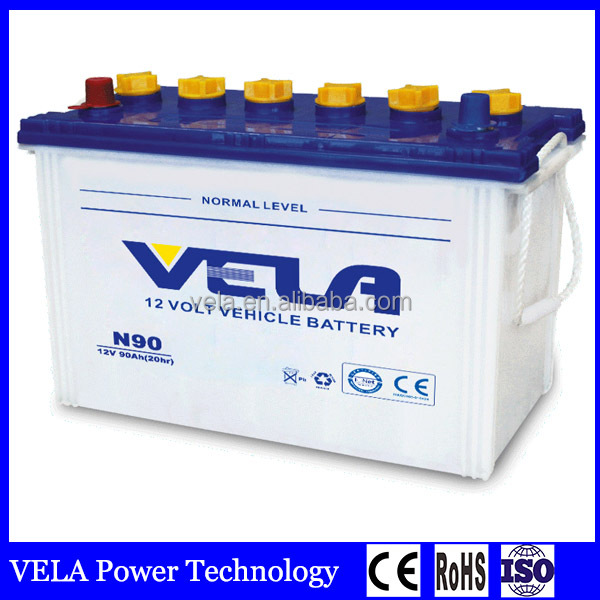Japan Standards Good Quality N90 Dry Charged Lead Acid Car Battery