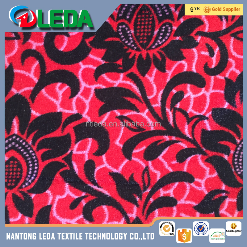 Wholesale polyester ruffled sofa african material fabrics