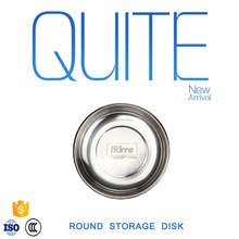 High quality stainless steel round storage disk