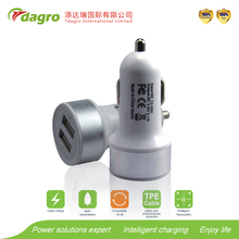 2.1A Dual USB Car Charger and Wall USB Charger in One, Best Portable Phone Charger for Home and Travel Use
