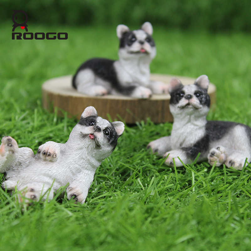 ROOGO Japan version ZAKKA Modern Home Decoration Three Set Dog Figurine For Less