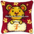 Creative latch hook pillow kits with high quality fabric and thread