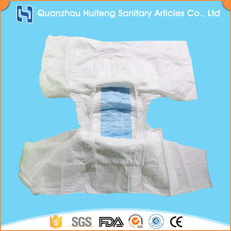 High quality disposable ultra thick printed adult diaper for elderly