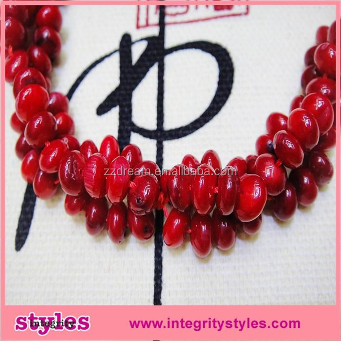 Latest Design Red Coral Beaded Necklace