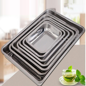 Stainless steel baking cake tray hotel restaurant serving tray