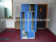 4 compartments Z shape door steel locker for gym,disassembled locker