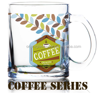 6oz 8oz 10oz 12oz Caffe Latte Espresso Cappuccino color printing glass coffee mug