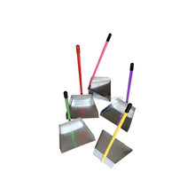 Factory Cheapest competitive price OEM acceptable high quality 2 size metal Long handle galvanized iron dustpan