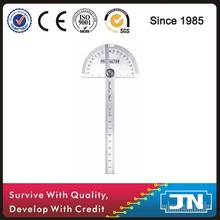 0-180 Etched Stainless Steel Round Head Protractor Degrees on sale