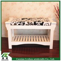 Korea stely wood shoes bench for chang shoes