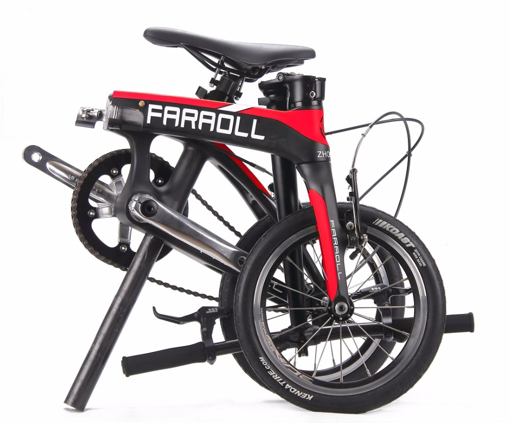 Folding bike Weight 6.5kg 2017 The Newest Design 14 inch Fold carbon bike Toray carbon fiber T800