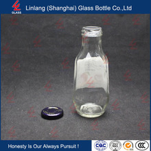 Screw Cap Transparent Glass Soft Drink Bottles
