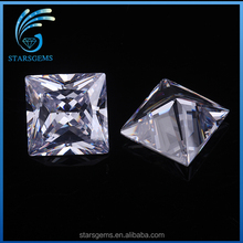 5x5mm high quality clear white cz square shape brilliant princess cut cubic zirconia