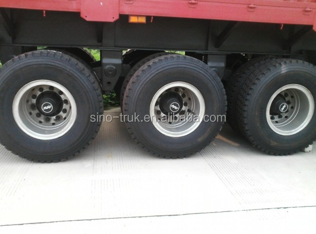 Heavy duty 3 axles 50 ton 60 ton low bed semi trailer