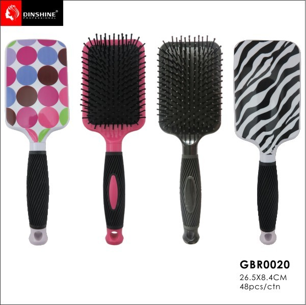 2017 trending products high quality hair brush with rubber handle