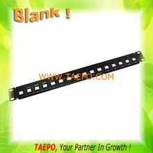 1u 19'' empty blank 16 ports patch panel