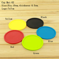 Fashionable Style Cup Mat Waterproof kitchen Silicone Heat-Resistant Mats