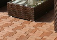 Eco-Friendly Gentle wpc tiles wood fiber