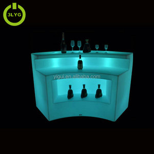Factory direct big size waterproof commercial furniture RGBW led portable bar counter