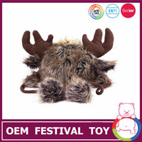 christmas brown deer head shaped hat for 2015 winter