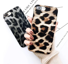 2018 new products leather leopard print pattern oem mobile phone case for iphone 6/7/8/X