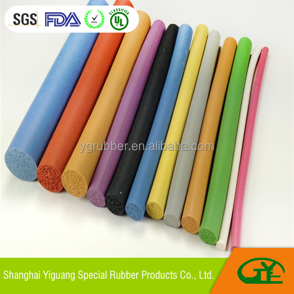 Silicone round foam sealing strip