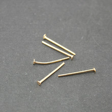 Wholesale Approx 6000pcs/lot Jewelry Pin Findings Rose Gold Plated 16MM Eye Pin DH-FZB008-20