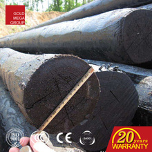 Competitive price creosote wooden poles for electricity