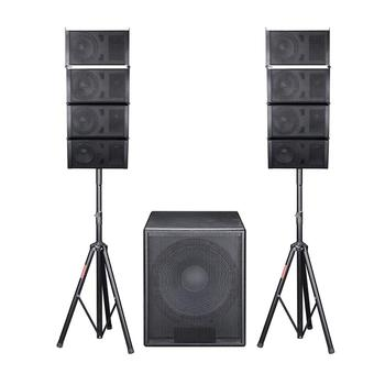 YS-6.5 active line array 8 pieces 6.5 inch full range speaker with YS-15 1 pcs 15 inch subwoofer sound system