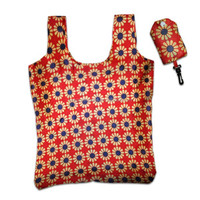 Full color gas sublimation printing polyester folding bag with snap pouch