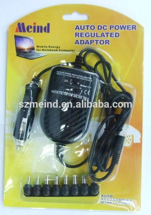 Wholesale 80w/90w universal laptop battery charger with 8 connectors, laptop charger for car