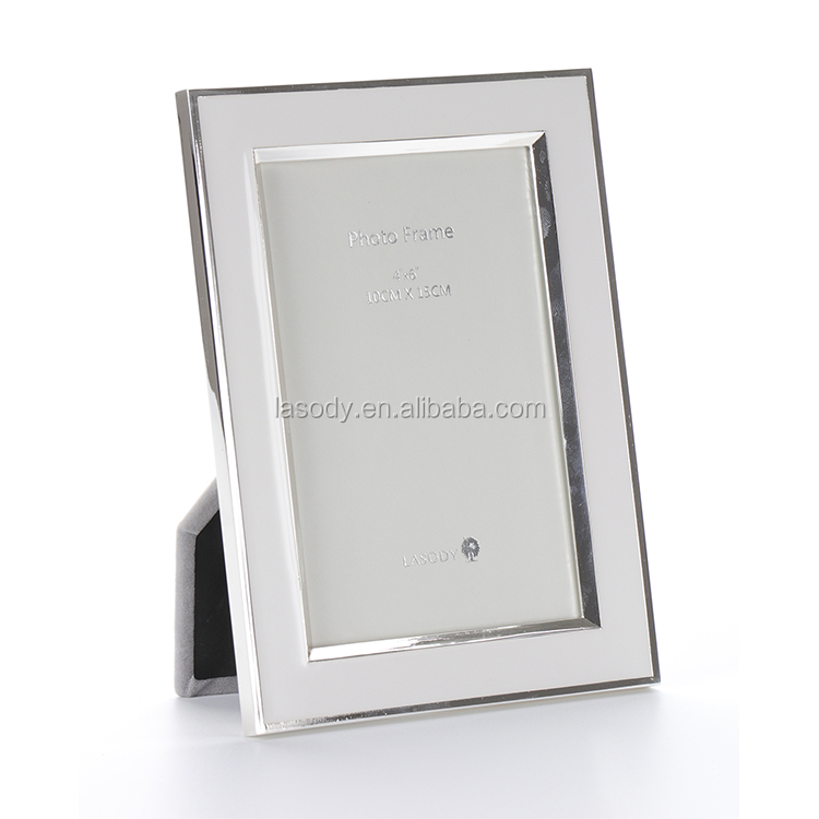 Traditional shiny epoxy rectangle metal picture photo frame