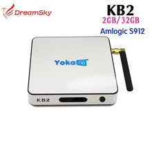 New box hd receiver YokaTV KB2 BT 4.0 Amlogic S912 Octa Core Android 6.0 TV Box 2GB/32GB Kod 17.0 Global tv box