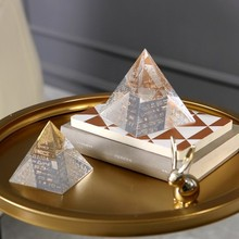 Modern creative home accessories decorative pyramid shaped creative gift items crystal paperweight