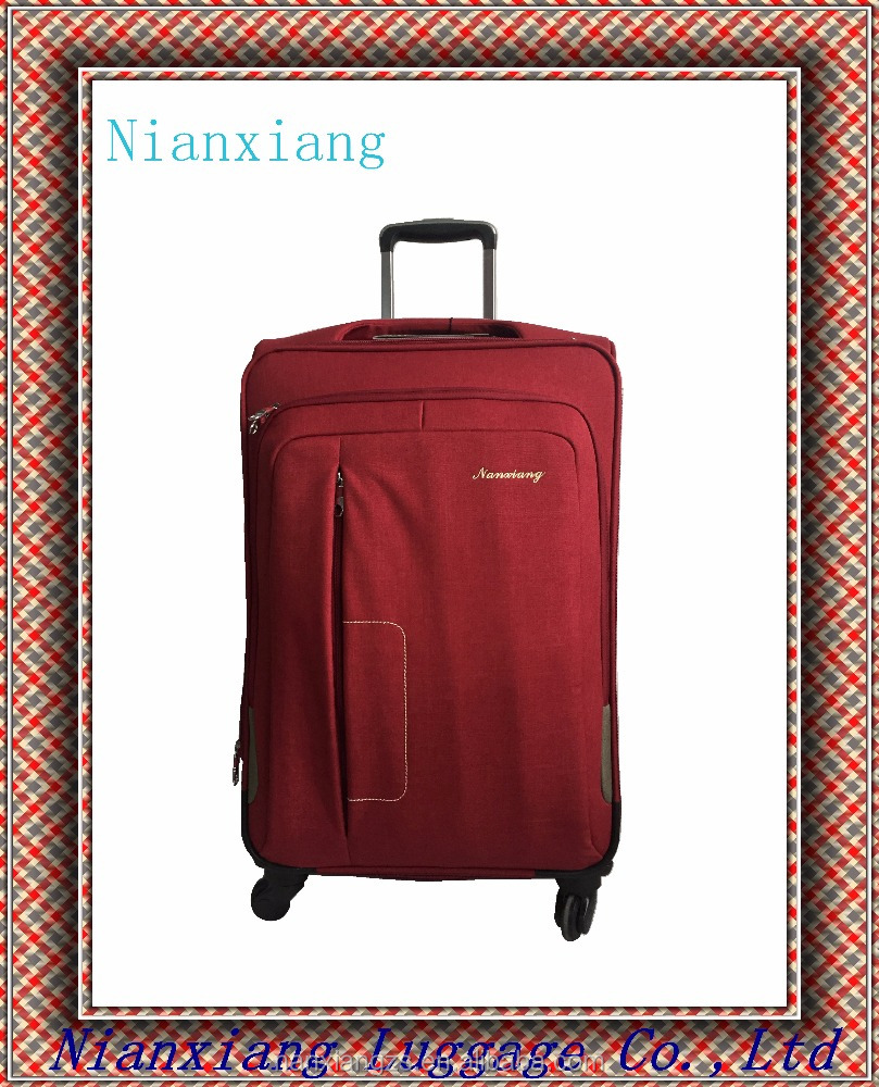 Hot sale cheap19 23 27 inch eight wheels nylon colth polyester trolley soft luggage