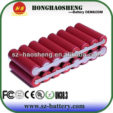 China supplier 18650 rechargeable lithium battery 14.4v li-ion battery pack