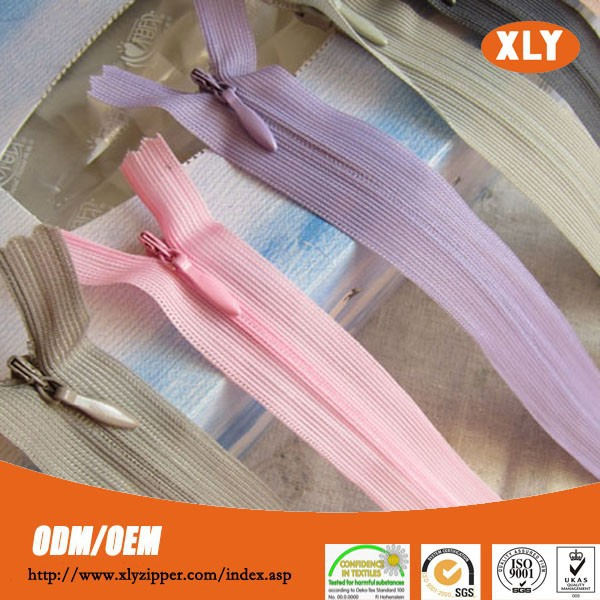 zipper factory 3# close end invisible nylon zipper for wedding dress