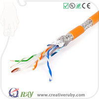 Competitive price and Best quality Copper SFFTP Ethernet cat7 cable 4pairs 24awg 305m 100% passed Fluke test