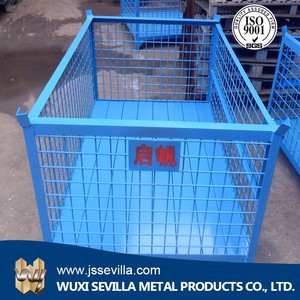 metal box pallet used steel cargo containers for sale metal bin storage container