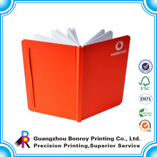 Orange color hardcover best note book with elastic band