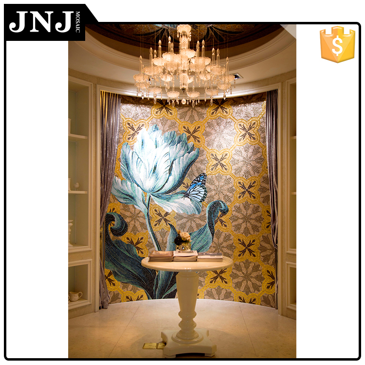 Restaurant Design Background Wall Tiles Mosaic Glass Mural