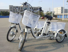 250W three wheel aluminum alloy frame electric adult tricycle