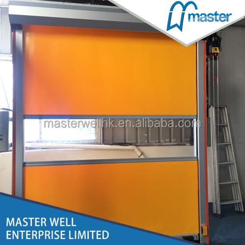Master Well high speed PVC rapid action door for industrial application