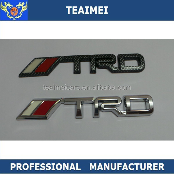 Customized 3D car Logo TRD Emblems For Decoration
