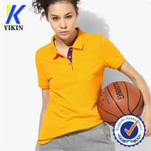 ginger color polo shirt 100% cotton comfortable t-shirts women sport T-shirt