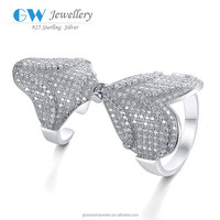 Fashion Jewelry Wholesale 925 Sterling Silver Diamond Wedding Ring